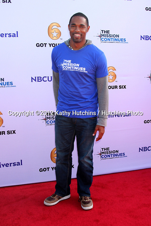"""LOS ANGELES - NOV 9:  Jason Geroge at the Veterans Day Service Event to feed LA Children sponsored by """"The Mission Continues"""" and """"Got Your 6"""" organizations. at Globe Theater at Universal Studios on November 9, 2012 in Los Angeles, CA"""