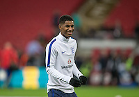 Marcus Rashford (Manchester United) of England before  the International Friendly match between England and Spain at Wembley Stadium, London, England on 15 November 2016. Photo by Andy Rowland.