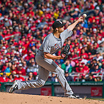 7 April 2016: Miami Marlins pitcher Adam Conley on the mound in the first inning of the Washington Nationals Home Opening Game at Nationals Park in Washington, DC. The Marlins defeated the Nationals 6-4 in their first meeting of the 2016 MLB season. Mandatory Credit: Ed Wolfstein Photo *** RAW (NEF) Image File Available ***