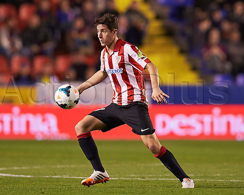 07.04.2014 Valencia, Spain. Midfielder Ander Herrera of Athletic Bilbao in action during the La Liga game Levante UD v Athletic Bilbao at Ciutat de Valencia Stadium, Valencia.