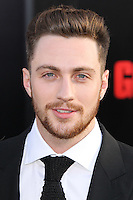 "HOLLYWOOD, LOS ANGELES, CA, USA - MAY 08: Aaron Taylor-Johnson at the Los Angeles Premiere Of Warner Bros. Pictures And Legendary Pictures' ""Godzilla"" held at Dolby Theatre on May 8, 2014 in Hollywood, Los Angeles, California, United States. (Photo by Xavier Collin/Celebrity Monitor)"