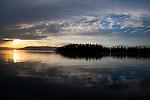 Sunset at Flathead Lake, Montana