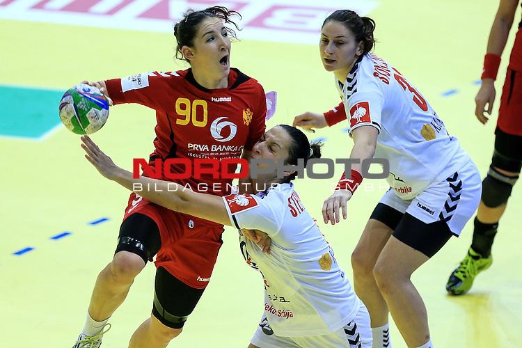 08.12.2014., Osijek, Croatia - European Women's Handball Championship, group D, Serbia - Montenegro.<br /> <br /> Foto &copy;  nph / PIXSELL / Davor Javorovic
