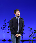 Taylor Trensch takes his bows as the newest Evan in 'Dear Evan Hansen' on Broadway at the Music Box Theatre on February 6, 2018 in New York City.