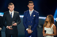 Zurigo 09-01-2017 FIFA Football Awards - Toni Kroos and Cristiano Ronaldo, team members of the FIFA Best 11 team during the Best FIFA Football Awards 2016 in Zurich<br /> Foto Steffen Schmidt/freshfocus/Insidefoto