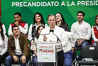 Jos&eacute; Antonio Meade Kuribre&ntilde;a, precandidato del Partido Revolucionario Institucional a la Presidencia de la Rep&uacute;blica se reuni&oacute; esta tarde con militantes del PRI, miembros del Consejo Pol&iacute;tico Estatal y dem&aacute;s clase pol&iacute;tica priista en auditorio del Comit&eacute; Directivo Estatal.<br /> 21 diciembre 2017<br /> (Foto: Luis Gutierrez /NortePhoto.com)