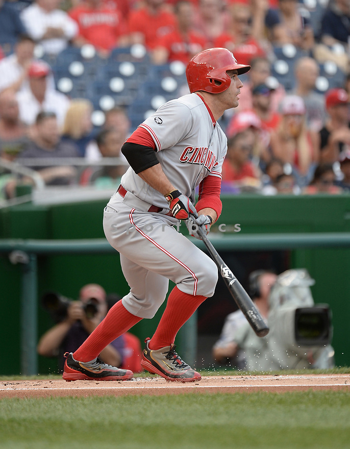 CIncinnati Reds Joey Votto (19) during a game against the Washington Nationals on July 1, 2016 at Nationals Park in Washington DC. The Nationals beat the Reds 3-2.