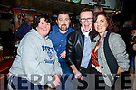 Martina Griffin, Brian Dineen, John and Bridget O'Riley from Tralee enjoying night out in Greyhound Bar on Saturday night.