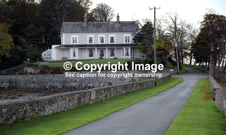 St Ernan's House Hotel, near Donegal Town, Co Donegal, Rep of Ireland. It is approached by a causeway over an inlet in Donegal Bay. 199810431<br /> <br /> Copyright Image from Victor Patterson, 54 Dorchester Park, Belfast, UK, BT9 6RJ<br /> <br /> t: +44 28 90661296<br /> m: +44 7802 353836<br /> vm: +44 20 88167153<br /> e1: victorpatterson@me.com<br /> e2: victorpatterson@gmail.com<br /> <br /> For my Terms and Conditions of Use go to www.victorpatterson.com