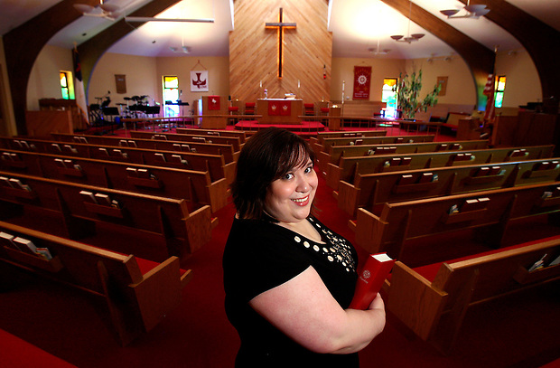 Liz Dieseth is a first-year seminary student in St. Paul.  A Des Moines native, she is photographed in Urbandale's St. Stephen Lutheran Church.