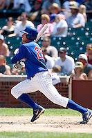August 9, 2009:  Outfielder Brad Snyder of the Iowa Cubs during a game at Wrigley Field in Chicago, IL.  Iowa is the Pacific Coast League Triple-A affiliate of the Chicago Cubs.  Photo By Mike Janes/Four Seam Images