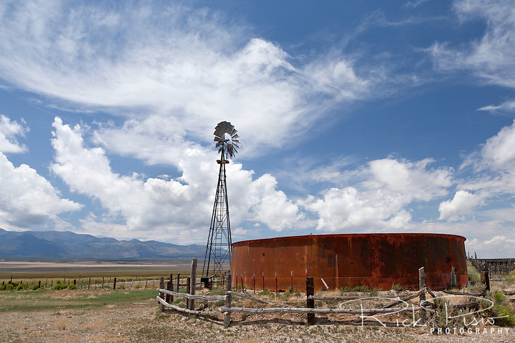 Windmill and water tank in eastern Nevada.