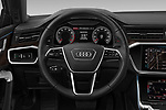 Car pictures of steering wheel view of a 2019 Audi A7 Prestige 5 Door Hatchback