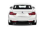 Straight rear view of a 2019 BMW 4 series M Sport 2 Door Coupe stock images