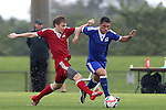 13 January 2015: Cristian Roldan (right) and Zach Steinberger (Butler) (left). The 2015 MLS Player Combine was held on the cricket oval at Central Broward Regional Park in Lauderhill, Florida.