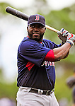 11 March 2010: Boston Red Sox designated hitter David Ortiz warms up prior to a Spring Training game against the New York Mets at Tradition Field in Port St. Lucie, Florida. The Red Sox defeated the Mets 8-2 in Grapefruit League action. Mandatory Credit: Ed Wolfstein Photo