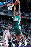Zalgiris Kaunas' Tremmell Darden during Euroleague 2012/2013 match.January 11,2013. (ALTERPHOTOS/Acero) NortePHOTO