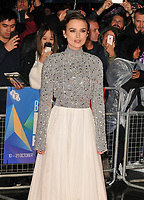 Keira Knightley at the &quot;Colette&quot; BFI Patron's film gala, 62nd BFI London Film Festival 2018, Cineworld Leicester Square, Leicester Square, London, England, UK, on Thursday 11 October 2018.<br /> CAP/CAN<br /> &copy;CAN/Capital Pictures /MediaPunch ***NORTH AND SOUTH AMERICAS ONLY***