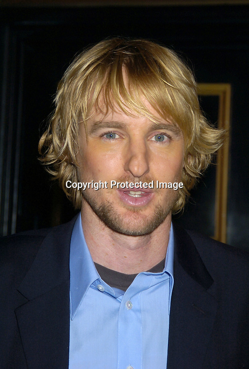 "Owen Wilson ..at The World Premiere of ""The Life Aquatic with Steve Zissou""  on December 9, 2004 at The Ziegfeld Theatre. ..Photo by Robin Platzer, Twin Images"