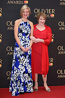 Marianne Elliott &amp; Patti LuPone arriving for the Olivier Awards 2018 at the Royal Albert Hall, London, UK. <br /> 08 April  2018<br /> Picture: Steve Vas/Featureflash/SilverHub 0208 004 5359 sales@silverhubmedia.com
