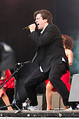 London, UK. 21 June 2015. Stars from the hit musical The Commitments perform at West End Live 2015 in Trafalgar Square. Pictured: singer Brian Gilligan.