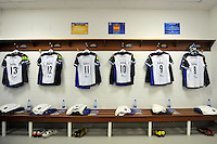 A general view of the away changing rooms at the RDS Arena. European Rugby Champions Cup match, between Leinster Rugby and Bath Rugby on January 16, 2016 at the RDS Arena in Dublin, Republic of Ireland. Photo by: Patrick Khachfe / Onside Images