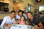 General Hospital Erik Valdez paints with Thorsten Kaye & daughter Marlowe - Eric Martsolf and donate time at SoapFest's Celebrity Weekend - Art for Autism when the actors & kids make paintings for auction to benefit Autism on November 10, 2012 Marco Island, Florida. For info www.autism-society.org or www.autismspeaks.org. (Photo by Sue Coflin/Max Photos)