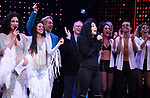 Stephanie J. Block, Teal Wicks, Michael Berresse, Bob Mackie and Cher during the Broadway Opening Night Curtain Call of 'The Cher Show'  at Neil Simon Theatre on December 3, 2018 in New York City.