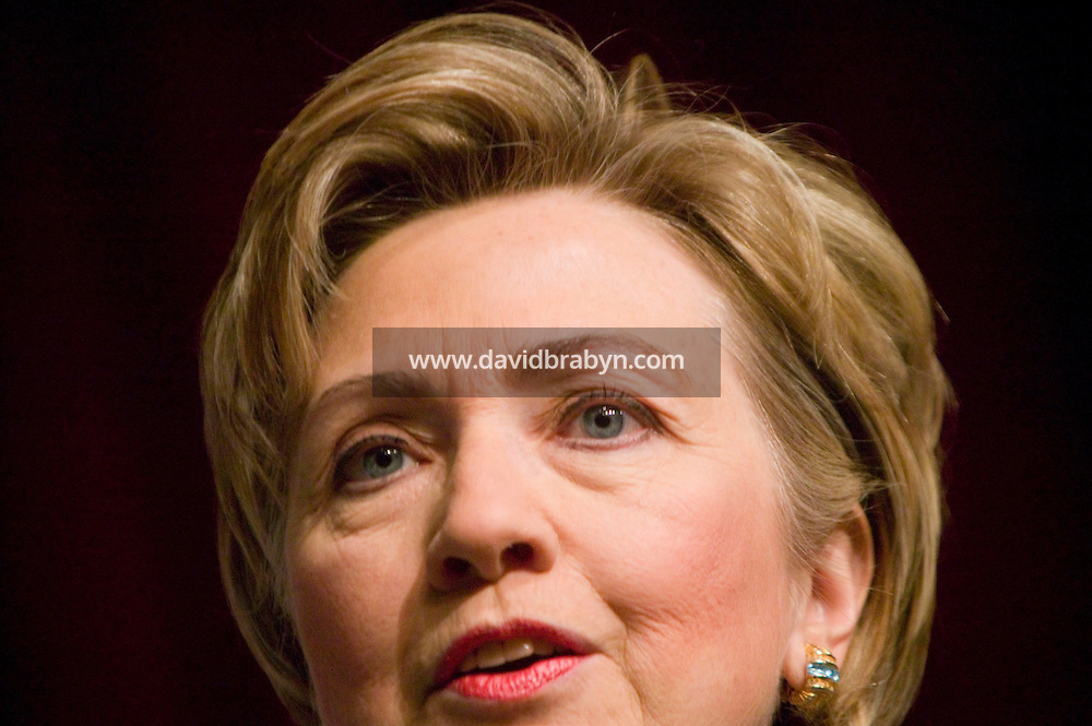 8 January 2007 - New York City, NY - US Senator and probable presidential candidate Hillary Clinton addresses the Rainbow PUSH Wall Street Project Summit in New York City, USA, 8 January 2007.