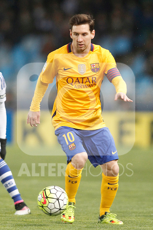 FC Barcelona's Leo Messi during La Liga match. April 9,2016. (ALTERPHOTOS/Acero)