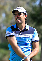 Edoardo Molinari (ITA) on the 2nd tee during Round 1 of the ISPS HANDA Perth International at the Lake Karrinyup Country Club on Thursday 23rd October 2014.<br /> Picture:  Thos Caffrey / www.golffile.ie