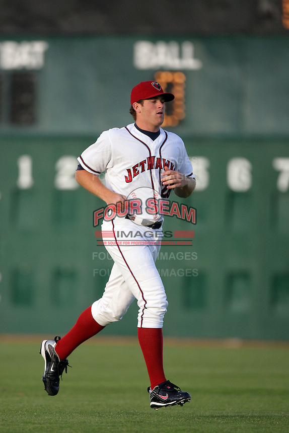 April 17, 2010: Shane Wolf of the Lancaster JetHawks before game against the Rancho Cucamonga Quakes at Clear Channel Stadium in Lancaster,CA.  Photo by Larry Goren/Four Seam Images