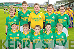 Toureencahill and Raheen Nathional Schools under 12 team Primary Schools Football Finals at Austin Stack park on Thursday, Front from left: Felim Jacob, Dean Roche, Galvin Bowler, Daniel Fleming and TJ Leader. Back row from left: Patrick White, JJ Herlihy, Michael Fleming, Hugh Cronin and Thomas Fleming.