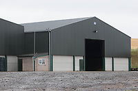 New grain store on a farm in the Scottish Borders <br /> &copy;Tim Scrivener Photographer 07850 303986<br /> ....Covering Agriculture In The UK....