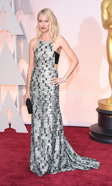 WWW.ACEPIXS.COM<br /> <br /> February 22 2015, LA<br /> <br /> Naomi Watts arriving at the 87th Annual Academy Awards at the Hollywood &amp; Highland Center on February 22, 2015 in Hollywood, California<br /> <br /> <br /> By Line: Z15/ACE Pictures<br /> <br /> <br /> ACE Pictures, Inc.<br /> tel: 646 769 0430<br /> Email: info@acepixs.com<br /> www.acepixs.com
