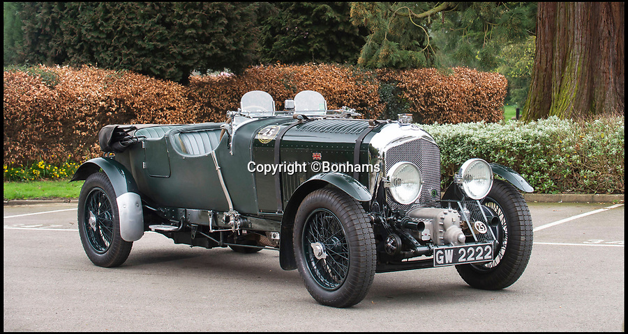 BNPS.co.uk (01202 558833)Pic: Bonhams/BNPS<br /> <br /> Supercharged Sale - Historic 'Blower' Bentley sells for a whopping £2 million.<br /> <br /> The beautiful 4½-Litre Bentley - 1 of only 50 'blowers' ever built - was a prized lot at the Goodwood Festival of Speed auction at the weekend.<br /> <br /> The models legendary status was ensured after four consecutive wins at the Le Mans 24 hour race in the late 1920's where the massive cars supercharged engine blew away the oppostition.<br /> <br /> And in 1932 a 'Blower' set a speed record of 138 mph around the famous banked Brooklands circuit near London.<br /> <br /> This immaculate model had spent recent years in the ownership of an esteemed British car collector.