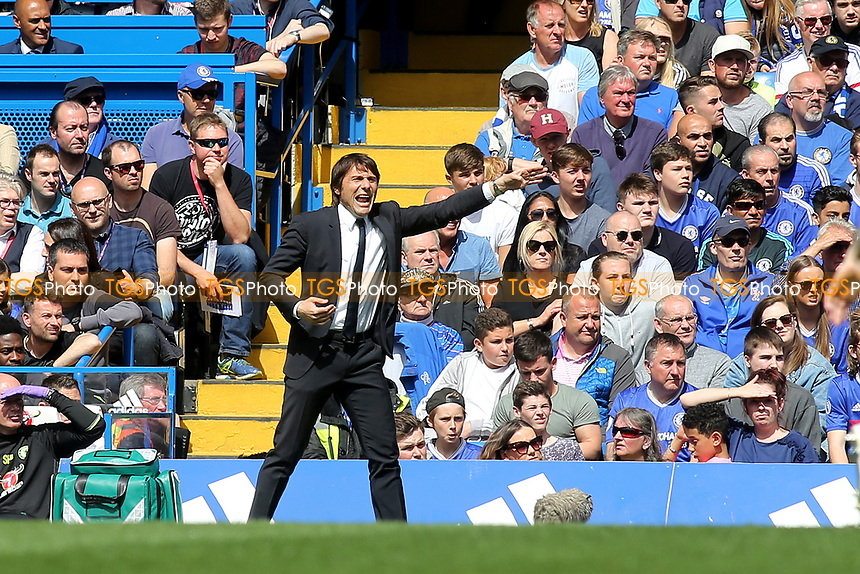 Chelsea Manager, Antonio Conte during Chelsea vs Sunderland AFC, Premier League Football at Stamford Bridge on 21st May 2017