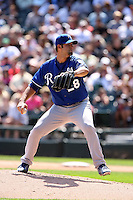 August 15 2008:  Starting Pitcher Kyle Davies of the Kansas City Royals during a game at U.S. Cellular Field in Chicago, IL.  Photo by:  Mike Janes/Four Seam Images