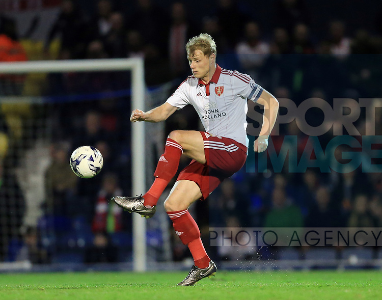 Sheffield United's Jay McEverley in action during the League One match at Roots Hall Stadium.  Photo credit should read: David Klein/Sportimage