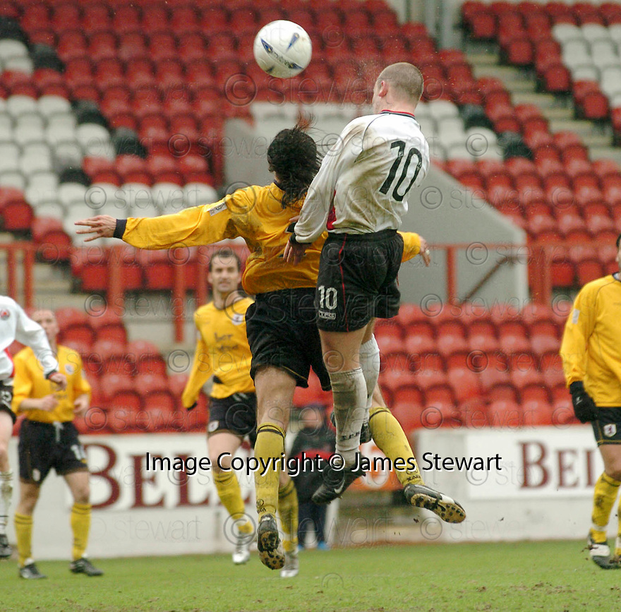 20040417    Copyright Pic: James Stewart.File Name : jspa06_clyde_v_raith.JAMES GIBSON SCORES CLYDE'S THIRD GOAL....James Stewart Photo Agency 19 Carronlea Drive, Falkirk. FK2 8DN      Vat Reg No. 607 6932 25.Office     : +44 (0)1324 570906     .Mobile  : +44 (0)7721 416997.Fax         :  +44 (0)1324 570906.E-mail  :  jim@jspa.co.uk.If you require further information then contact Jim Stewart on any of the numbers above.........
