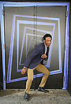 """Johnny Brantley during hi Broadway debut in """"Beetlejuice"""" photo shoot at the Winter Garden Theatre on April 22, 2019 in New York City."""