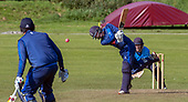 Cricket Scotland - the Citylets Scottish Cup Final between Carlton CC V Heriots CC at Meikleriggs, Paisley (Ferguslie CC) - Heriots batting - picture by Donald MacLeod - 25.08.19 - 07702 319 738 - clanmacleod@btinternet.com - www.donald-macleod.com