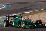 JEREZ. SPAIN. FORMULA 1<br />2013/14 en el Circuito de Jerez 30/01/2014 La imagen muestra a Robin Frijns  de Catherham F1  LP / Photocall3000