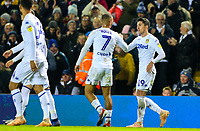 Leeds United's Kemar Roofe congratulates Pablo Hernandez after he scored the seconds goal<br /> <br /> Photographer Alex Dodd/CameraSport<br /> <br /> The EFL Sky Bet Championship - Leeds United v Bristol City - Saturday 24th November 2018 - Elland Road - Leeds<br /> <br /> World Copyright &copy; 2018 CameraSport. All rights reserved. 43 Linden Ave. Countesthorpe. Leicester. England. LE8 5PG - Tel: +44 (0) 116 277 4147 - admin@camerasport.com - www.camerasport.com