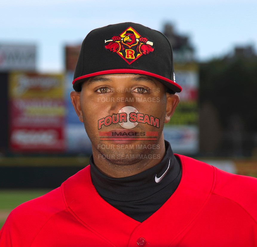 Rochester Red Wings pitcher Daryl Thompson #30 poses for a photo during media day at Frontier Field on April 3, 2012 in Rochester, New York.  (Mike Janes/Four Seam Images)