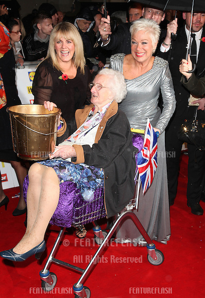 Jo Joyner and Denise Welch arriving for the 2012 Pride of Britain Awards, at the Grosvenor House Hotel, London. 29/10/2012 Picture by: Alexandra Glen / Featureflash
