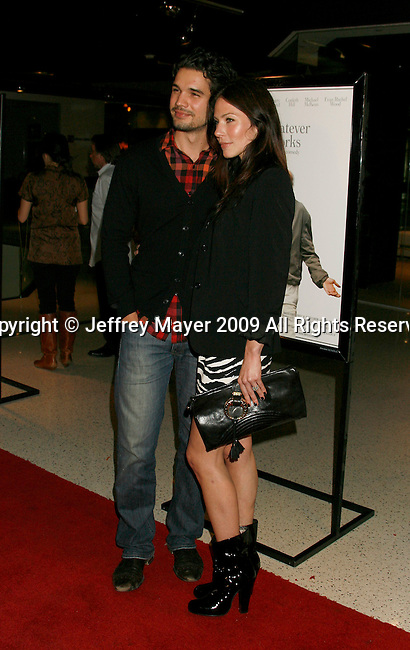 """WEST HOLLYWOOD, CA. - June 08: Actors Steven Strait and Lynn Collins arrive at the Los Angeles premiere of """"Whatever Works"""" at the Pacific Design Center on June 8, 2009 in West Hollywood, California."""