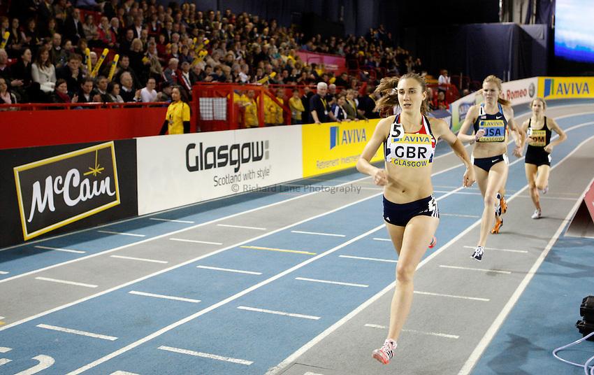 Photo: Richard Lane/Richard Lane Photography. Aviva International Match. 30/01/2010. Great Britain's Lisa Dobriskey during the women's 1500m.