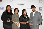 Honorees Jordan Tesfay, Tiffany Jones, Ashunta Sheriff, Luciano at Color of Beauty Awards hosted by VH1's Gossip Table's Delaina Dixon and Maureen Tokeson-Martin on February 28, 2015 with red carpet, awards and cocktail reception at Ana Tzarev Gallery, New York City, New York.  (Photo by Sue Coflin/Max Photos)