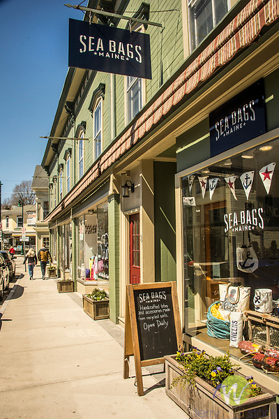 Main Street, Mystic, CT. Sea Bags store